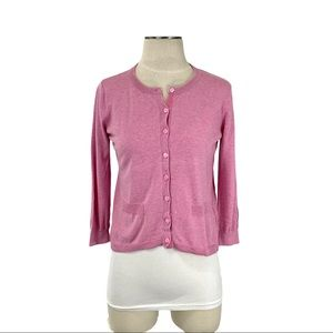 Margaret O'Leary- Pink Lightweight Cardigan Small